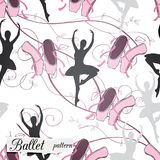 Pattern on ballet theme royalty free stock images