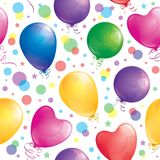 Pattern of balloons Stock Photos