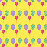 Pattern with balloons Stock Photo