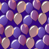 Pattern with balloons Royalty Free Stock Image