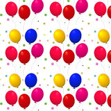 Pattern with balloons on a white background. Vector illustration. Isolated on white background. Transparency and gradient mesh not used Royalty Free Stock Photography