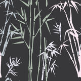 Pattern with bamboo Stock Image