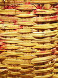 Pattern from bamboo basket Stock Photography