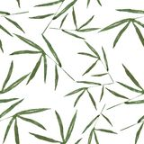 Pattern with bamboo leaves for best print royalty free illustration