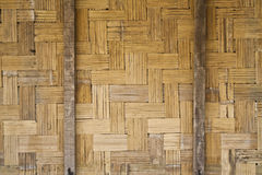 Pattern of bamboo partition Royalty Free Stock Image