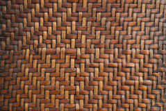 A pattern of bamboo. Patterns of basketry made ​​from bamboo Royalty Free Stock Photo