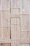 The pattern of bamboo weave wall. Of traditional bungalow house in countryside, Thailand Stock Image