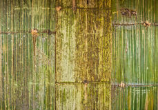 The pattern of bamboo weave wall Stock Photo