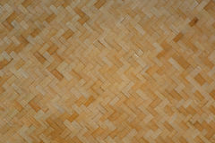 Pattern of bamboo woven Royalty Free Stock Photos