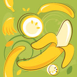 Pattern of bananas Stock Photo
