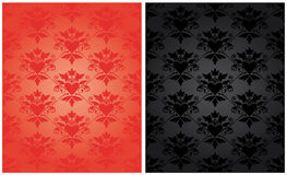 Pattern baroque with heart stock photo