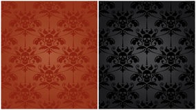 Pattern baroque with skulls royalty free stock images