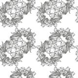 Pattern in baroque style Stock Photos