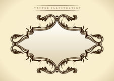 Pattern in Baroque style. Vintage frame Royalty Free Stock Images