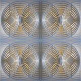 Pattern based on the structure of overlapping circles. 3d illustration. Abstract architectural pattern based on the structure of overlapping circles. Render Royalty Free Stock Photos