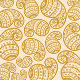 Pattern based on traditional asian elements paisle Royalty Free Stock Photo