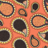 Pattern based on traditional Asian elements Paisley Royalty Free Stock Photo