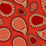 Pattern based on traditional Asian elements Paisley Royalty Free Stock Photography