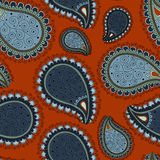 Pattern based on traditional Asian elements Paisley Royalty Free Stock Image