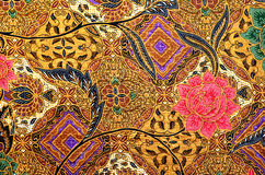 Pattern and Batik Textile Royalty Free Stock Photo