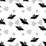 Pattern with bats Royalty Free Stock Photo