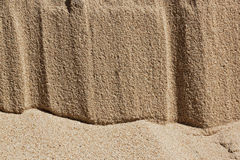 Pattern in Beach Sand Resulting from Water and Wind Royalty Free Stock Photos