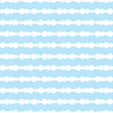Pattern beads. Horizontal pattern of circles closely spaced elements. The background is blue Royalty Free Stock Image