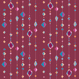 Pattern with beads on thread Stock Images