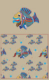 Pattern bearded fish Royalty Free Stock Photo