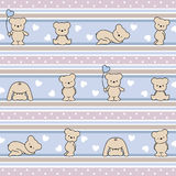 Pattern with bears Royalty Free Stock Photo