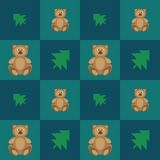 Pattern bears Royalty Free Stock Images
