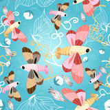 Pattern of beautiful butterflies Stock Photography