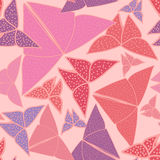 Pattern with beautiful origami butterflies drawing Stock Photography