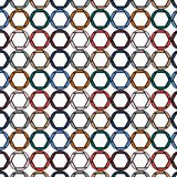 Pattern of beautyfull, colorful, bright,  round diaphragms, circles painted in the most fashionable colors of 2018 on a white back Royalty Free Stock Images