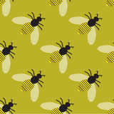Pattern with bees Royalty Free Stock Images