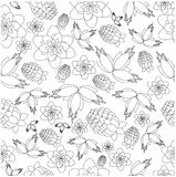 Pattern from berries and flowers Royalty Free Stock Images
