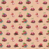 Pattern with berry illustrations. Watercolor pattern with berry illustrations Royalty Free Stock Image