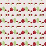 Pattern berry mix Royalty Free Stock Photos