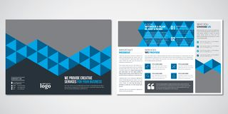 Pattern Bi-fold Brochure Design Template stock illustration