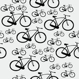 Pattern bicycle. Seamless pattern with bicycles of different sizes Stock Image