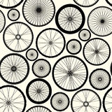 Pattern of bicycle wheels Royalty Free Stock Photo