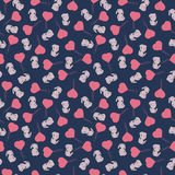Seamless pattern with cute cartoon rabbit  Stock Image