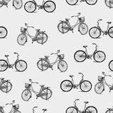 Pattern of the bicycles Stock Photos