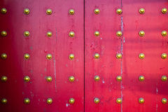 Pattern of big Chinese temple doors Royalty Free Stock Photos