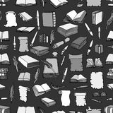 Pattern of Big Set Books Stock Images