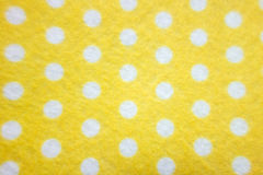 Pattern with big white polka dots on a yellow background Royalty Free Stock Photography