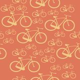 Pattern bike. Seamless pattern with bicycles of different sizes Stock Photo