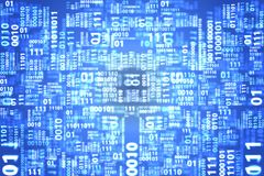Pattern of binary code blue background. Royalty Free Stock Photos