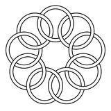 Pattern of the binding rings. Chain links, round rings, vector Royalty Free Illustration