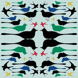 Pattern bird  Royalty Free Stock Images